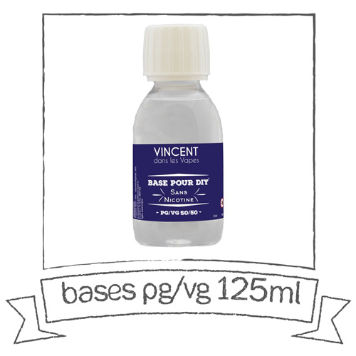 PG/VG unflavoured bases - 50/50 -125 ml