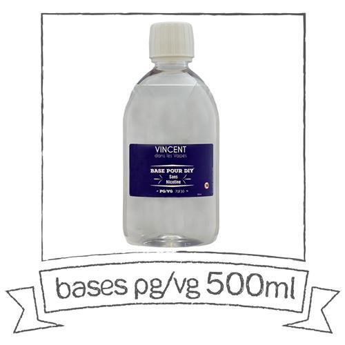 Les Bases PG/VG - Base PG/VG 50/50 500ml