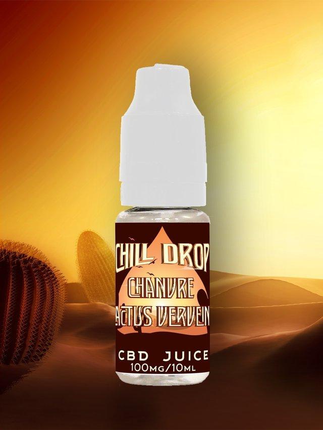 E-liquide Chill Drop - Évasion - Chanvre Cactus Verveine