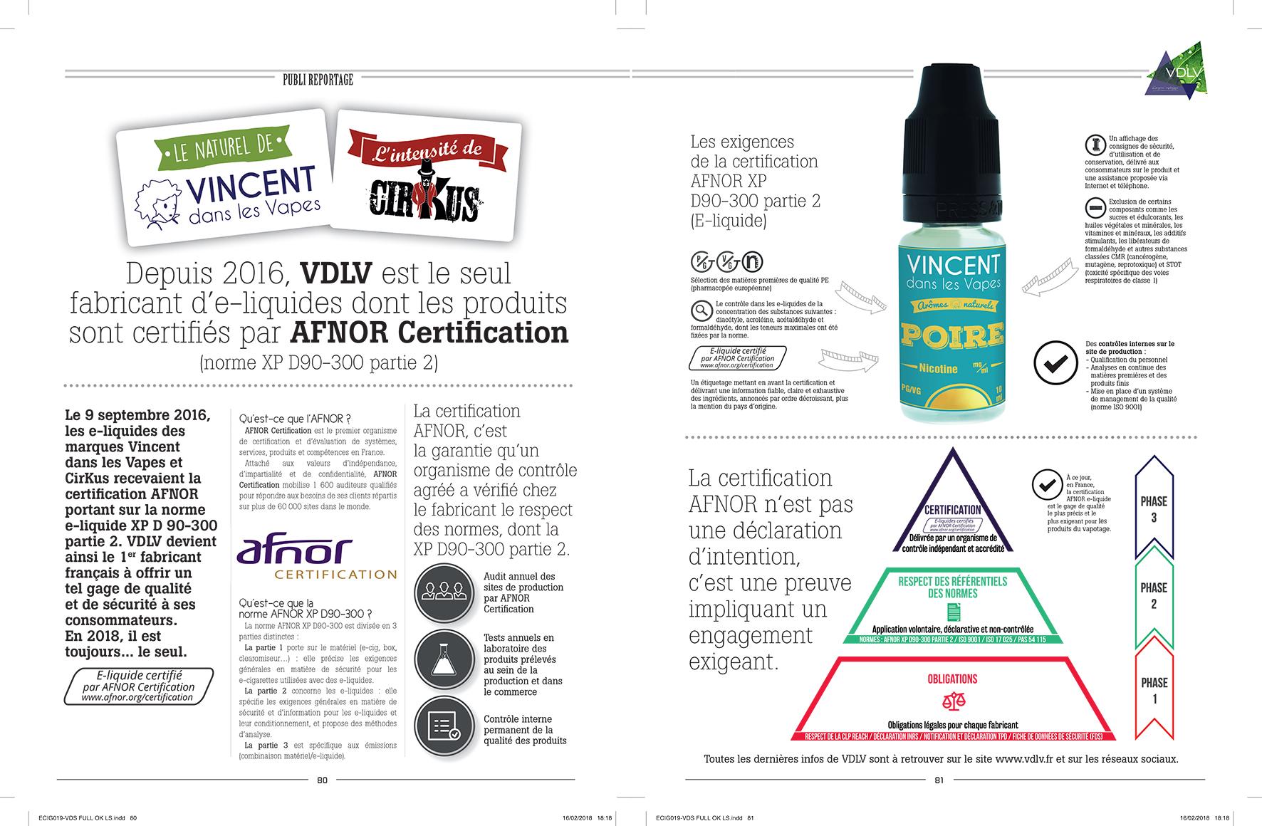 VDLV, le seul fabricant français certifié AFNOR depuis 2016