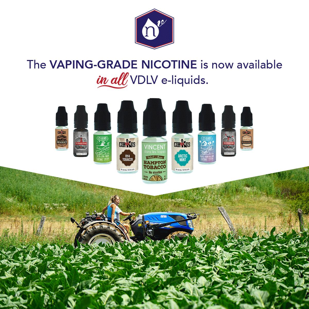 VDLV, n°1 European producer of Vaping-Grade Nicotine